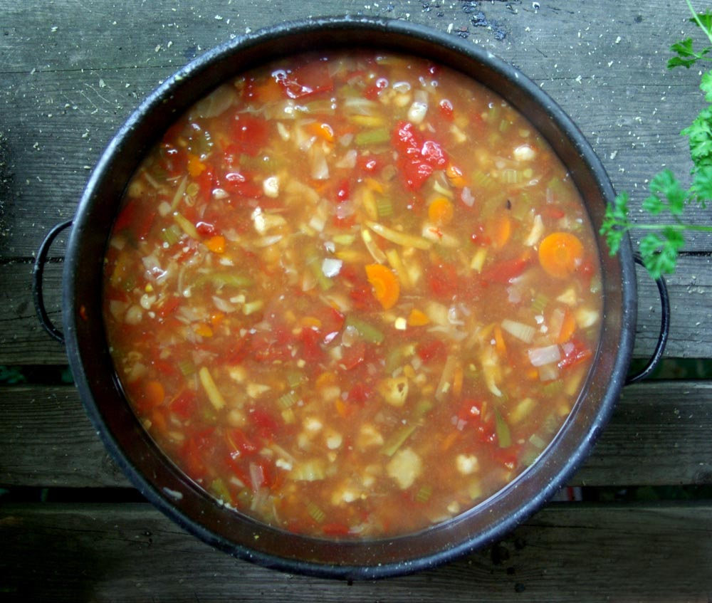photo of vegetable soup
