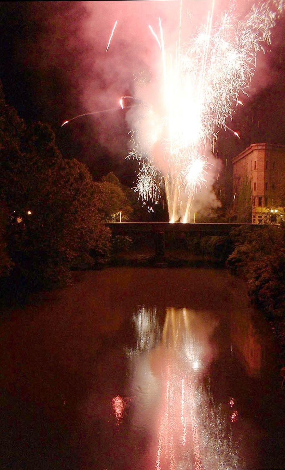 fireworks over water