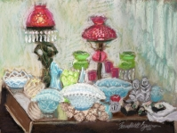 Table of Glass, original pastel